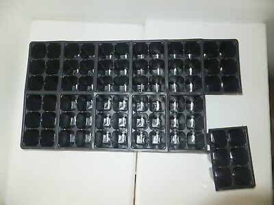 Set of 10 SHEETS 1206 Tray Inserts Packs New Plastic (720 cells; fills 10 flats)