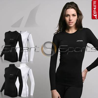 ATHLETE BX Basic Ladies Lightweight Compression Base Layer Long Sleeve Top Skins