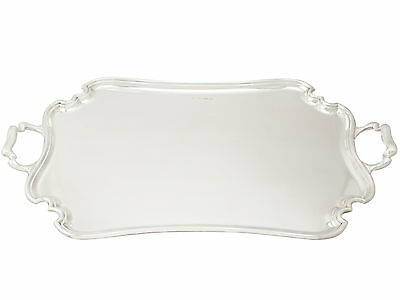 Sterling Silver Two-Handled Tea Tray by Atkin Brothers - Antique George V