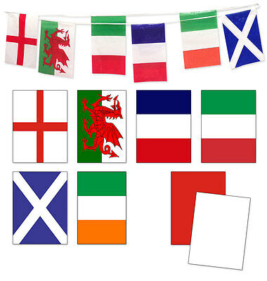 10m/15m Bunting England/France/Italy/Scotland/Wales/Ireland Six Nations Rugby