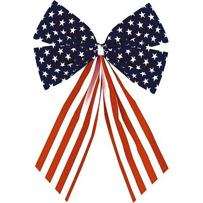 Stars & Stripes Bow - Small 1 pc Patriotic 4th of July (A240297)