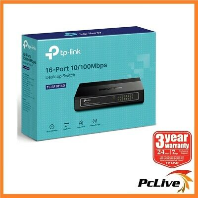 TP-Link TL-SF1016D 16 Port 100Mbps Network Switch Hub