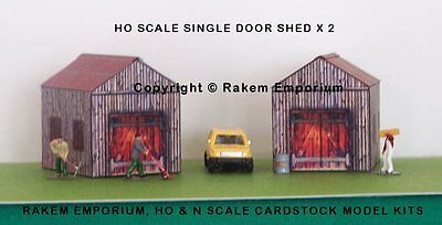 HO Scale Shed, Garage, Barn x 2 Model Railway Building Kit - HOSS1