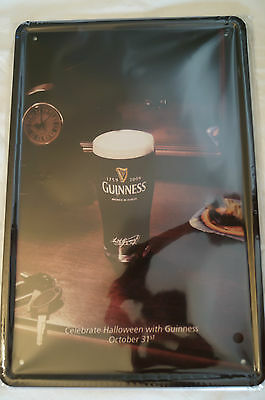 RETRO STYLE TIN SIGN - Guinnness - Celebrate Halloween with Guinness.