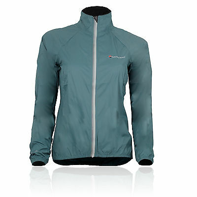 Montane Womens Featherlite Blue PERTEX Water Resistant Velo Cycling Sport Jacket