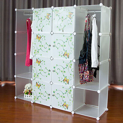 Customizable & Stylish PP Plastic Wardrobes, organizers, cabinets & shelves