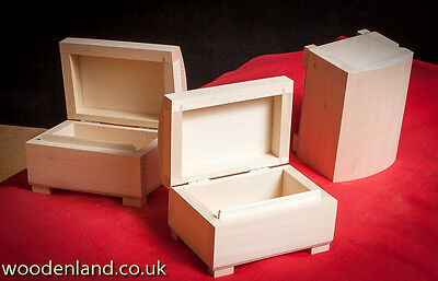 Unpainted New  Wooden Small Chest/box For Jewellery / Art Craft Decoupage