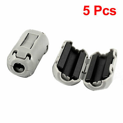 5 Pcs Gray UF35B Clip On EMI RFI Noise Ferrite Core Filter for 3mm Cable