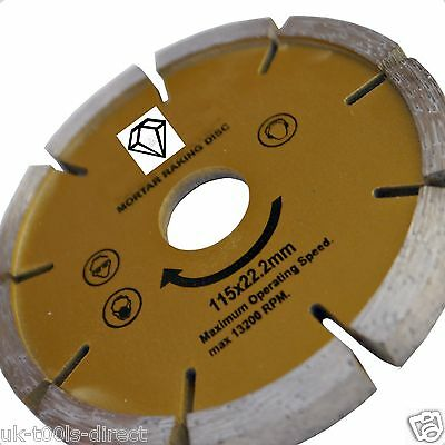 "Mortar Joint Raker 115 x 22mm 4 1/2""Angle Grinding Pointing Jointing Pointing"