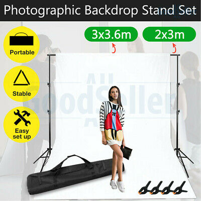 2X3M Chroma Key Green Black White Backdrops Photography Background Support Stand
