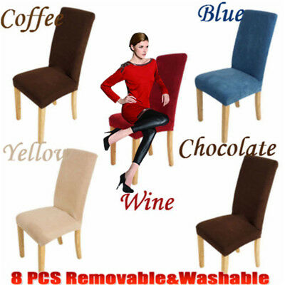8X Removable Chair Cover Dining Room Seat Protector Slipcover EASY Stretch -HOT