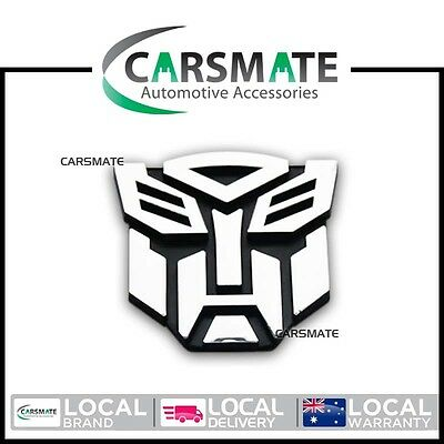 Transformers Autobot Logo 3D Silver Chrome Car Sticker Decal Badge Emblem 8x8cm