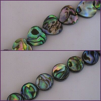 Abalone Mother Of Pearl beads Hearts or Rounds