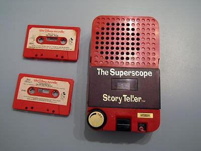 Vintage The Superscope Story Teller Children's Cassette Player Toy WORKS 2 Tapes