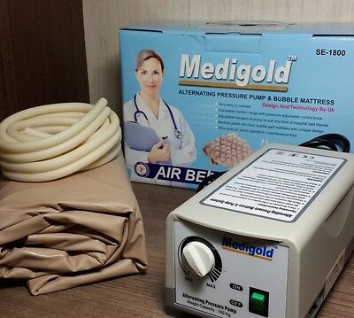 Electric Air Mattress System For Preventing Bed Sores Medigold Se-1800 New