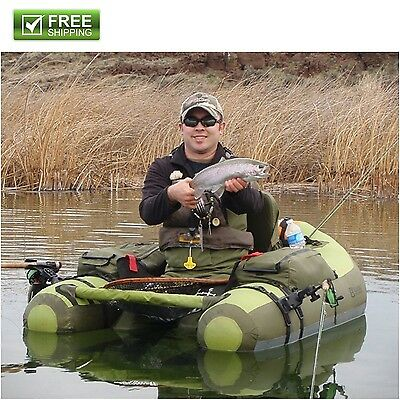 Carrying Inflatable Float-Tube Fishing 2 Fishing Rod Holders Extra High Seat New