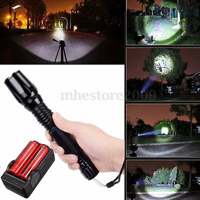 UltraFire 2200 Lumen CREE XM-L T6 LED Zoomable Focus Flashlight Torch Lamp Light