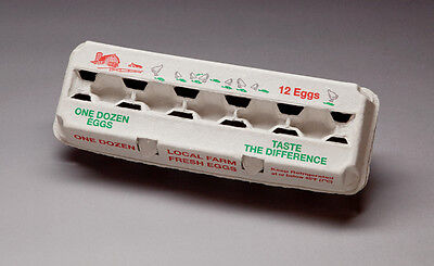 NEW- 300 PRINTED Egg Cartons-12ct - Green/Red Printed
