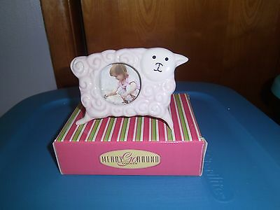 (NEW) Little Girl with a Curl - Pink- (Round Frame)- by Gorham For Lenox