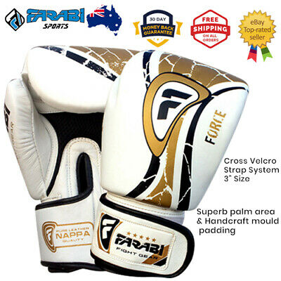 Boxing Gloves Leather Training. Sparring Match Kick Boxing, Muay Thai MMA Gloves