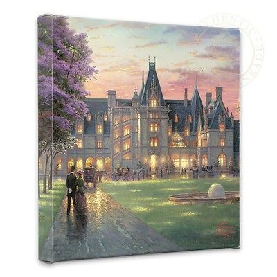 Thomas Kinkade Elegant Evening at Biltmore 14 x 14 Gallery Wrapped Canvas