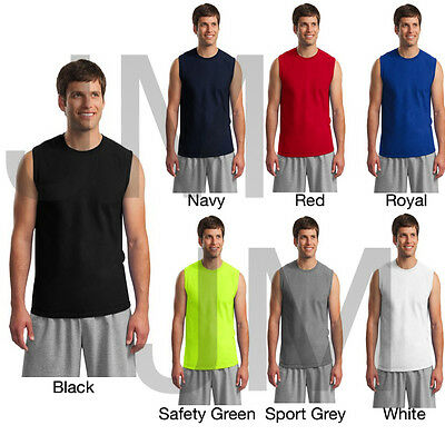 GILDAN 2700 MEN'S TANK TOP S-2XL Ultra Cotton Sleeveless Muscle Tee T-Shirt