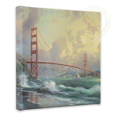 Thomas Kinkade San Francisco Golden Gate Bridge 14 x 14 Canvas Wrap