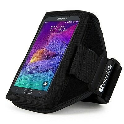 Black Sport Gym Armband Case for Samsung Galaxy Note 4 3 /Note Edge/A7/S6 Edge
