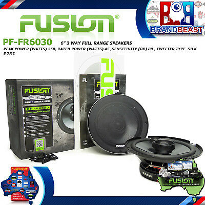 "Fusion Performance Pf-Fr6030 6"" 250W Car Audio 3 Way Coaxial Coax Speaker System"