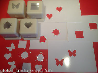 Martha Stewart PUNCH ALL OVER THE PAGE CRAFT PUNCHES - Set of 4 or Buy Just 1!