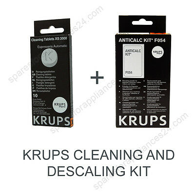 Krups Cleaning And Descaling Kit For Coffee Espresso Machine Xs3000 + F054
