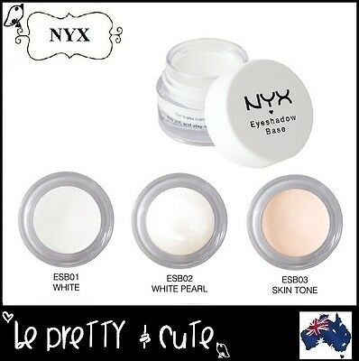 NYX Eye Shadow Base Primer ESB WHITE PEARL SKIN TONE -Pick 1 eyeshadow last long