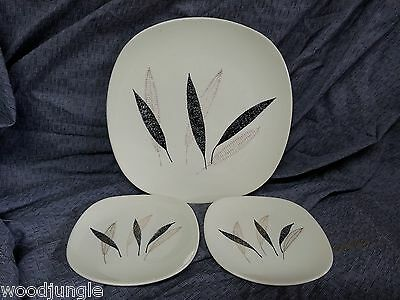 3 RARE KNOWLES FEATHER FANTASY PLATES MID CENTURY MODERN ATOMIC KALLA  Vintage