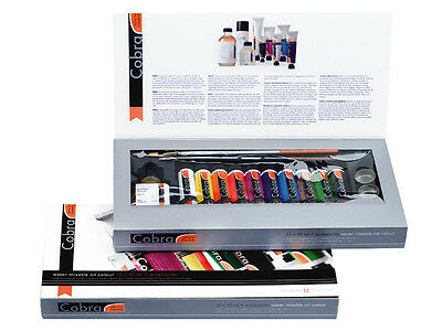 Royal Talens Cobra Water Mixable Oil Colour Paint - Gift Set