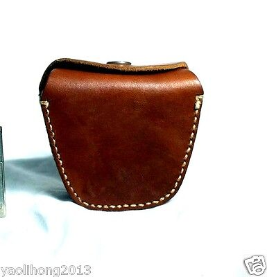 1970's NOS Chinese Army Military Leather Bag Case Ammo Pouch for Hunting Fishing