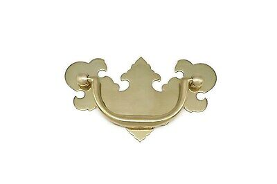 "Chippendale Victorian Drawer Pulls, Solid Brass, 2 1/2"" Center To Center"