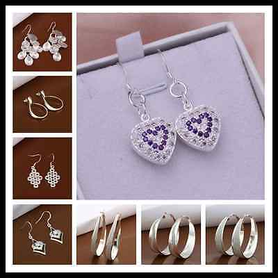 Wholesale Fashion Jewelry 925Solid Silver Womens Sterling Silver Earring Gift