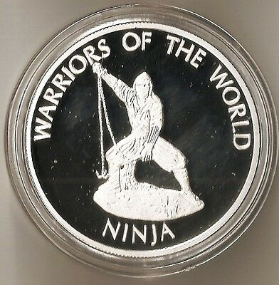 Congo 10 Francs 2010 Km# 210 Warriors Of The World - Ninja - Plated Proof