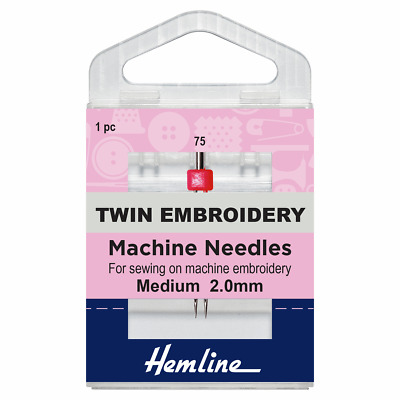 Size 75/11 EMBROIDERY with 2mm Gap Sewing Machine Needle - Klasse Twin - Pack 1