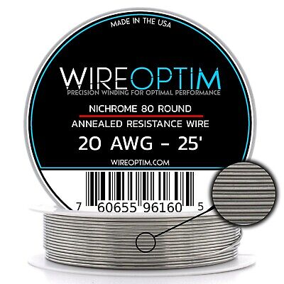 Nichrome 20 Gauge AWG Wire 25ft Roll .81mm , 0.652 Ohms/ft Resistance
