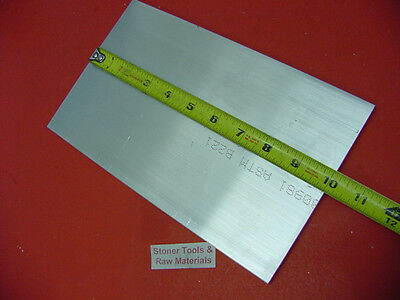 "5/8"" X 6"" ALUMINUM 6061 FLAT BAR 10"" long Solid .625"" T6511 Plate Mill Stock"