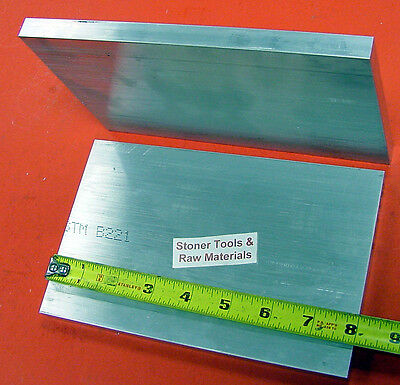 "2 Pieces 5/8"" X 6"" ALUMINUM 6061 FLAT BAR 8"" long Solid .625 T6 Plate Mill Stock"
