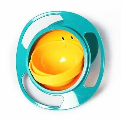1PC Practical 360 Degree UFO Gyroscope Kids Bowl Never-spill-food Baby Bowl New