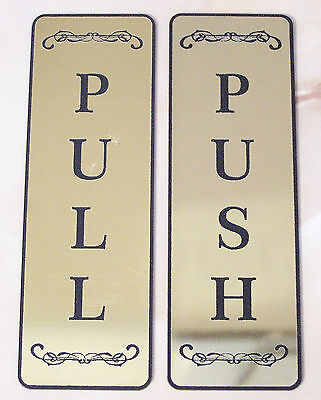 Push or Pull Front Door Sign Laser Engraved Plastic Sign