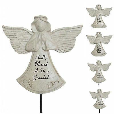 Angel Memorial On Stick, Spike, Graveside Tribute, Remembrance, Mum Dad Nan Etc.
