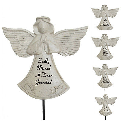Praying Angel Memorial Stick Spike Stake Tribute Graveside Remembrance Garden