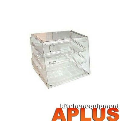 Winco  3 Tray Rear Door Acrylic Display Case Model: ADC-3