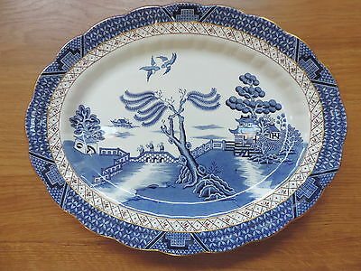 Booths Real Old Willow Oval Platter 14 inch A8025