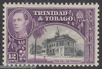 TRINIDAD AND TOBAGO - 1938 12c. Black and Purple MM / MH