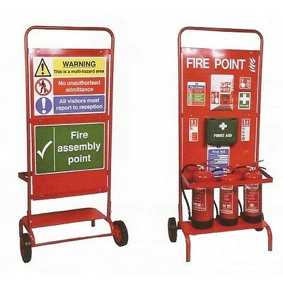 New Mobile Fire Point Trolley / Stand (Cs26)
